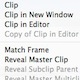 Find Clips in the Finder