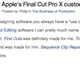 Who are Apple's Final Cut Pro X customers?