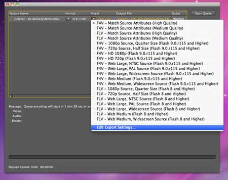 Encoding with Media Encoder CS5