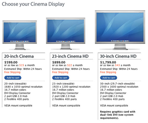 Apple's new LED Cinema Displays