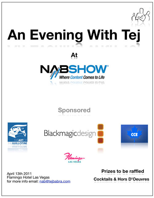 NAB 2011 An Evening With Tej